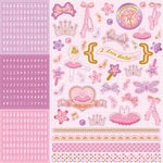 Best Creation Inc - Ballet Princess Collection - Glittered Cardstock Stickers - Combo