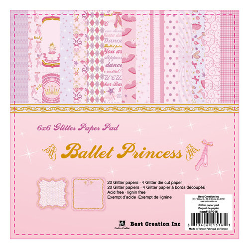 Best Creation Inc - Ballet Princess Collection - 6 x 6 Paper Pad