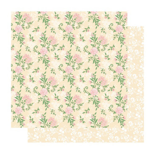 Best Creation Inc - Blossoming Time Collection - 12 x 12 Double Sided Glitter Paper - Roses