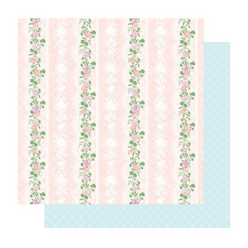Best Creation Inc - Blossoming Time Collection - 12 x 12 Double Sided Glitter Paper - Classic