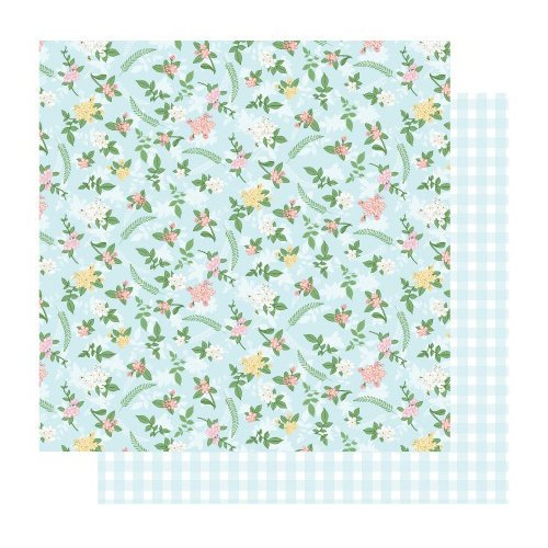 Best Creation Inc - Blossoming Time Collection - 12 x 12 Double Sided Glitter Paper - Charming