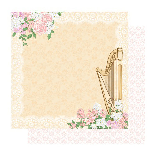 Best Creation Inc - Blossoming Time Collection - 12 x 12 Double Sided Glitter Paper - Melody
