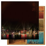 Best Creation Inc - China Collection - 12 x 12 Double Sided Glitter Paper - Hong Kong