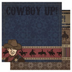Best Creation Inc - Cowboy Collection - 12 x 12 Double Sided Glitter Paper - Cowboy Up