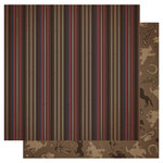 Best Creation Inc - Cowboy Collection - 12 x 12 Double Sided Glitter Paper - Cowboy Stripes