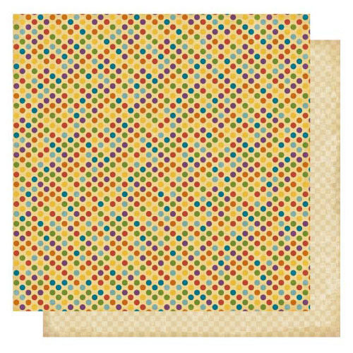 Best Creation Inc - Circus Circus Collection - 12 x 12 Double Sided Glitter Paper - Circus Dots