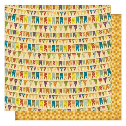 Best Creation Inc - Circus Circus Collection - 12 x 12 Double Sided Glitter Paper - Circus Parade