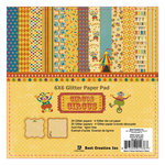 Best Creation Inc - Circus Circus Collection - 6 x 6 Glittered Paper Pad