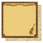 Best Creation Inc - Classical Music Collection - 12 x 12 Glittered Paper - Cello Solo