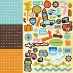Best Creation Inc - Travel Forever Collection - Cardstock Stickers - Combo