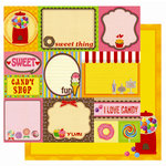Best Creation Inc - Candy Shop Collection - 12 x 12 Double Sided Glitter Paper - Candy Shop Tags
