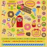 Best Creation Inc - Candy Shop Collection - Glittered Cardstock Stickers - Element