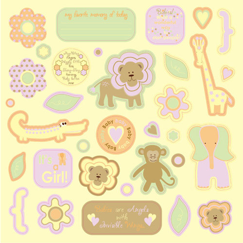 Best Creation Inc - Safari Girl Collection - Die Cut Chipboard Pieces