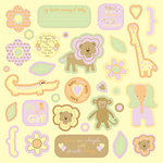 Best Creation Inc - Safari Girl Collection - Die Cut Chipboard Pieces