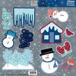 Best Creation Inc - Winter Wonderland Collection - Glittered Cardstock Stickers - Elements