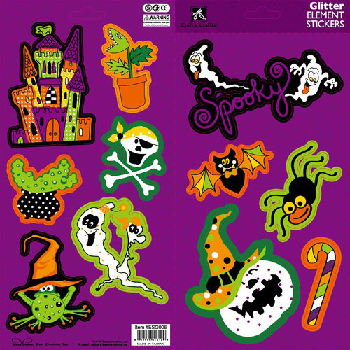 Best Creation Inc - Haunted House Collection - Glittered Cardstock Stickers - Elements