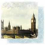 Best Creation Inc - Europe Collection - 12 x 12 Double Sided Glitter Paper - Big Ben