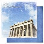 Best Creation Inc - Europe Collection - 12 x 12 Double Sided Glitter Paper - Parthenon