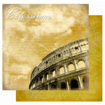 Best Creation Inc - Europe Collection - 12 x 12 Double Sided Glitter Paper - Colosseum