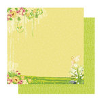 Best Creation Inc - Fairy Collection - 12 x 12 Double Sided Glitter Paper - Fairyland Right
