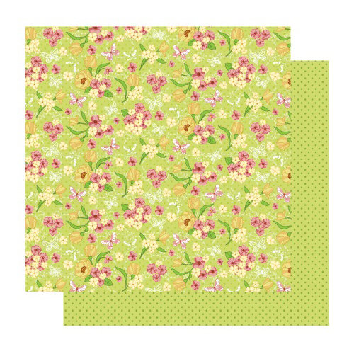 Best Creation Inc - Fairy Collection - 12 x 12 Double Sided Glitter Paper - Fairy Floral