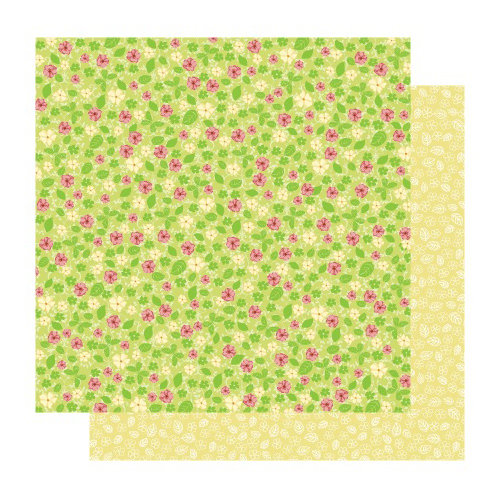 Best Creation Inc - Fairy Collection - 12 x 12 Double Sided Glitter Paper - Fairy Blossom