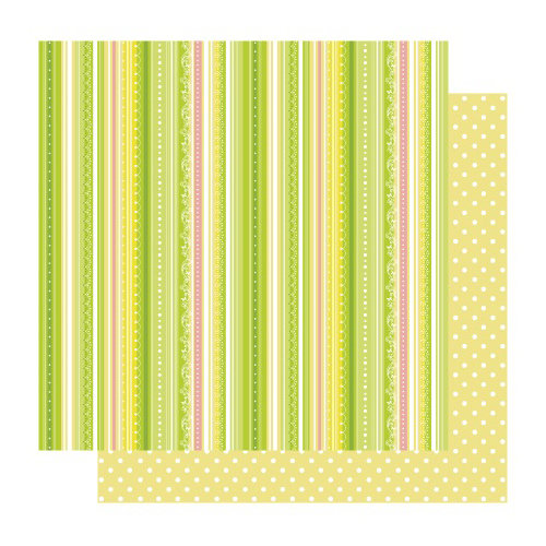 Best Creation Inc - Fairy Collection - 12 x 12 Double Sided Glitter Paper - Fairy Stripe