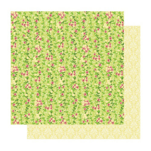Best Creation Inc - Fairy Collection - 12 x 12 Double Sided Glitter Paper - Fairy Vine
