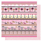 Best Creation Inc - Go Paris Collection - 12 x 12 Glittered Paper - Paris Life