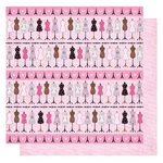 Best Creation Inc - Go Paris Collection - 12 x 12 Glittered Paper - Make Fashion