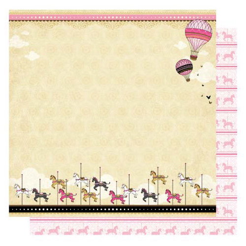 Best Creation Inc - Go Paris Collection - 12 x 12 Glittered Paper - Paris Style