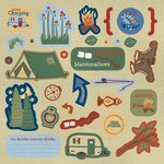Best Creation Inc - Gone Camping Collection - Expressions - Die Cut Chipboard Pieces
