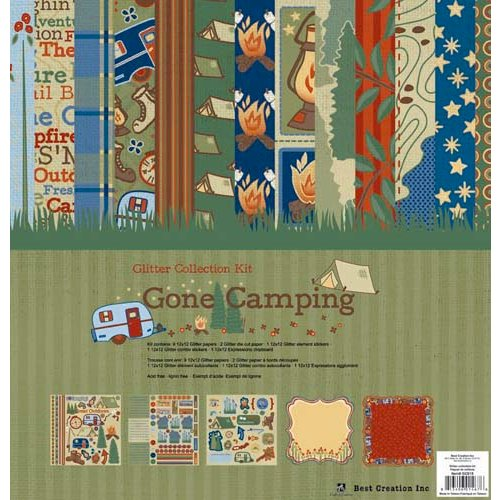 Best Creation Inc - Gone Camping Collection - 12 x 12 Glittered Collection Kit