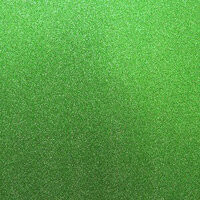 Best Creation Inc - 12 x 12 Glitter Cardstock - Light Green