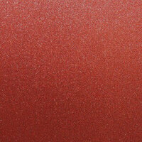 Best Creation Inc - 12 x 12 Glitter Cardstock - Ornament Red