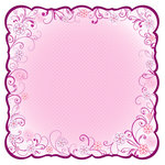 Best Creation Inc - Once Upon A Dream Collection - 12 x 12 Die Cut Glitter Paper - Flower Twirls