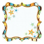 Best Creation Inc - Transportation Collection - 12 x 12 Die Cut Glitter Paper - All Stars