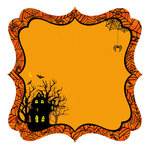 Best Creation Inc - Trick or Treat Collection - Halloween - 12 x 12 Die Cut Glitter Paper - Haunted House