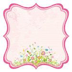 Best Creation Inc - Bella Collection - 12 x 12 Die Cut Glitter Paper - Bella Journal Pink