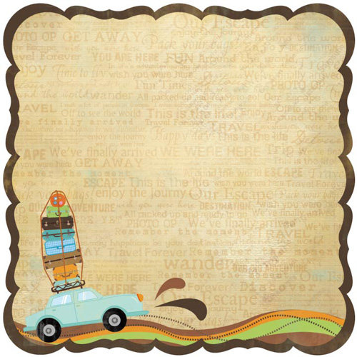 Best Creation Inc - Travel Forever Collection - 12 x 12 Die Cut Glitter Paper - Vacation Getaway