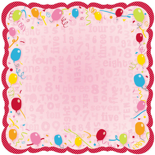 Best Creation Inc - Let's Party! Collection - 12 x 12 Die Cut Glitter Paper - Let's Party