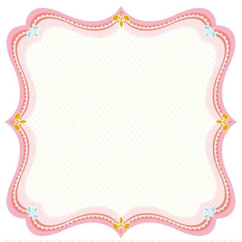 Best Creation Inc - Bunny Love Collection - Easter - 12 x 12 Die Cut Glitter Paper - Victorian Lace