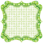 Best Creation Inc - St. Patrick Collection - 12 x 12 Die Cut Glitter Paper - Celtic Border