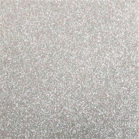 Best Creation Inc - 12 x 12 Gloss Glitter Paper - Silver