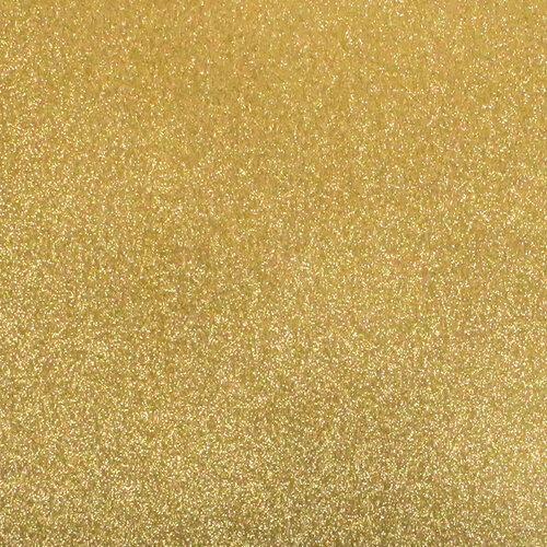 Best Creation Inc - 12 x 12 Gloss Glitter Paper - Bright Gold