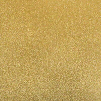 Best Creation Inc - 12 x 12 Gloss Glitter Paper - Bright Gold