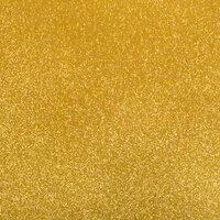 Best Creation Inc - 12 x 12 Gloss Glitter Paper - Gold