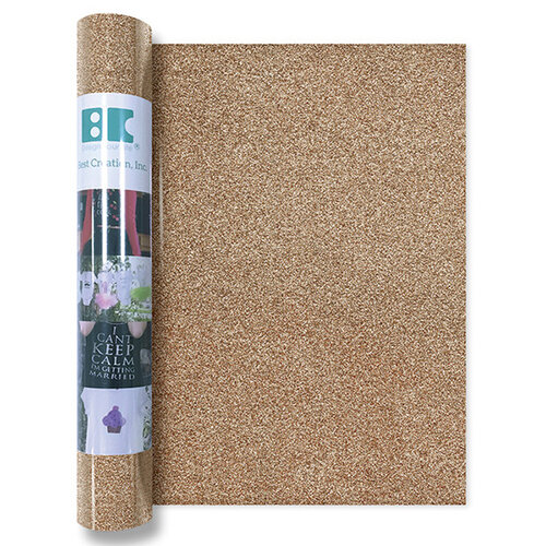 Best Creation Inc - Glitter Iron On - 12 Inch - Sand