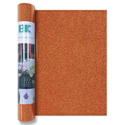 Best Creation Inc - Glitter Iron On - 12 Inch - Orange
