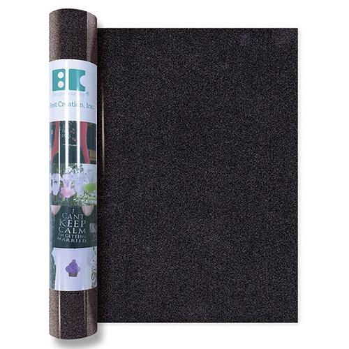 Best Creation Inc - Glitter Iron On - 12 Inch - Black